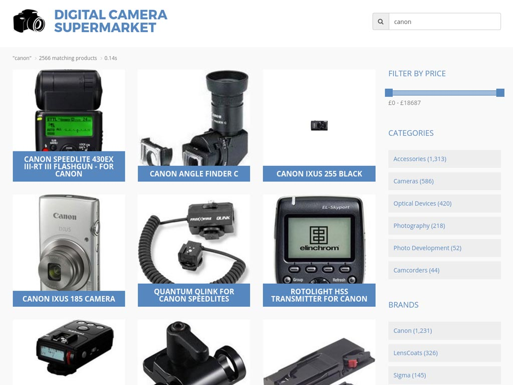 Digital Camera Supermarket